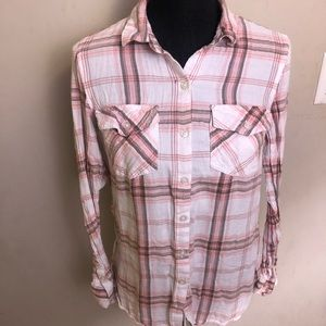3 for 25$ JESSICA SIMPSON womans plaid shirt small